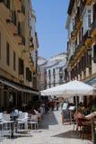 MALAGA, ANDALUCIA/SPAIN - 5 LUGLIO: Vista del centro urbano del Mal Fotografia Stock