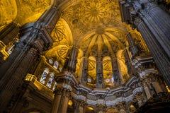 MALAGA, ANDALUCIA/SPAIN - MAY 25 : Interior View of the Cathedra Royalty Free Stock Photos
