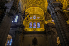 MALAGA, ANDALUCIA/SPAIN - MAY 25 : Interior View of the Cathedra Royalty Free Stock Image