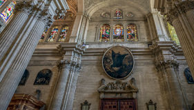 MALAGA, ANDALUCIA/SPAIN - MAY 25 : Interior View of the Cathedra Royalty Free Stock Photography