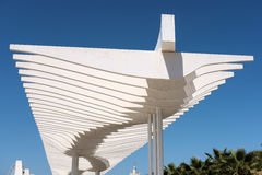 MALAGA, ANDALUCIA/SPAIN - MAY 25 : Modern Pergola in the Harbour Royalty Free Stock Photos