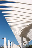 MALAGA, ANDALUCIA/SPAIN - MAY 25 : Modern Pergola in the Harbour Stock Photography