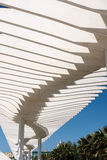 MALAGA, ANDALUCIA/SPAIN - MAY 25 : Modern Pergola in the Harbour Royalty Free Stock Image