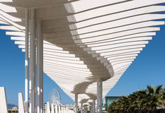 MALAGA, ANDALUCIA/SPAIN - MAY 25 : Modern Pergola in the Harbour Stock Photos