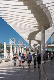 MALAGA, ANDALUCIA/SPAIN - MAY 25 : Modern Pergola in the Harbour Stock Image