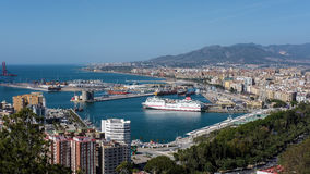 MALAGA, ANDALUCIA/SPAIN - MAY 25 : View of the Harbour Area of M Royalty Free Stock Photos