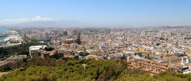 Malaga in Andalusia, Spagna Vista aerea della città Immagini Stock