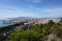 Malaga. In Andalusia from Spain Royalty Free Stock Images