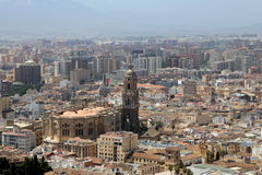 Malaga in Andalusia, Spain. Aerial view of the city Stock Images