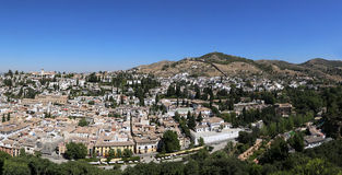 Malaga in Andalusia, Spain. Aerial view (panorama) of the city Stock Photos
