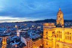 Malaga Andalusia, Spanien arkivbild