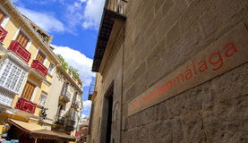 MALAGA - APRIL 15: Ingang van Pablo Picasso Museum in Malag Royalty-vrije Stock Fotografie