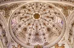 Malaga - The baroque cupola in Iglesia del Santiago Apostol Royalty Free Stock Photos