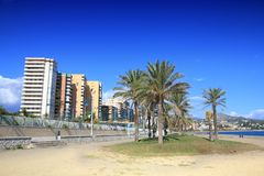 Malaga beach Royalty Free Stock Photo