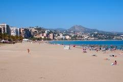 Malaga beach panoram, Spain Royalty Free Stock Photos