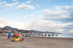 Malaga beach Stock Photo
