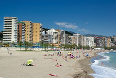 Malaga beach and seaside. Royalty Free Stock Photos