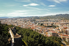 Malaga buildings view Royalty Free Stock Photography