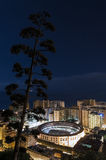 Malaga bullring of allspice view gibralfaro Stock Photos