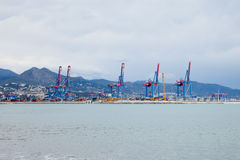 Malaga Cargo Port Royalty Free Stock Images