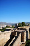 Malaga castle and city rooftops. Stock Image