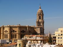 Malaga - Cathedral stock photography