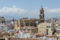 Malaga Cathedral Aerial view Royalty Free Stock Photo