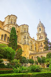 Malaga Cathedral in Andalusia Royalty Free Stock Photo
