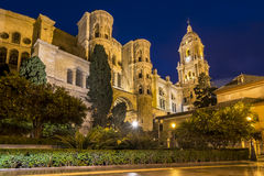 Malaga Cathedral in Andalusia, southern Spain stock photography