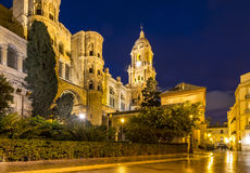 Malaga Cathedral in Andalusia, southern Spain Stock Images