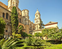 Malaga Cathedral in Andalusia. Royalty Free Stock Photos