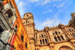 Malaga Cathedral Basílica de la Encarnacion. In historic center Royalty Free Stock Photography