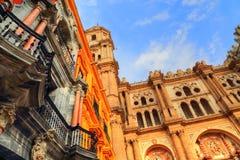 Malaga Cathedral Basílica de la Encarnacion. In historic center Royalty Free Stock Images