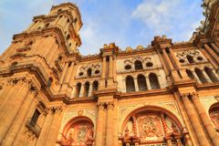 Malaga Cathedral Basílica de la Encarnacion. In historic center Stock Photography