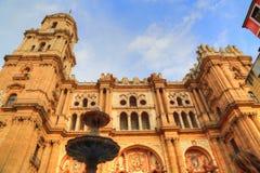 Malaga Cathedral Basílica de la Encarnacion. In historic center Stock Image