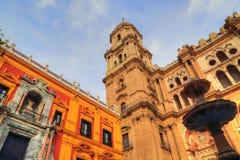 Malaga Cathedral Basílica de la Encarnacion. In historic center Royalty Free Stock Photo
