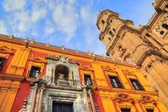 Malaga Cathedral Basílica de la Encarnacion. In historic center Stock Images