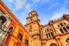 Malaga Cathedral Basílica de la Encarnacion. In historic center Royalty Free Stock Photos