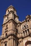 Malaga Cathedral belfry Stock Photos