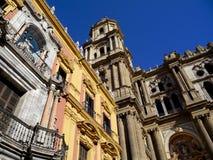 Malaga Cathedral. Malaga City, Spain Royalty Free Stock Photo