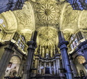 Malaga cathedral indoor Royalty Free Stock Image