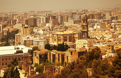 Malaga, Cathedral, La Alcazaba. Stock Photography