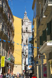 Malaga Cathedral from Larios Malaga Royalty Free Stock Photos