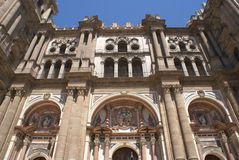 Malaga Cathedral in Spain Royalty Free Stock Photo