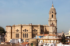 Malaga cathedral, Spain. Malaga, Cathedral of the Incarnation, west side Stock Images
