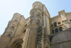 Malaga Cathedral in Spain Royalty Free Stock Photography