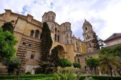Malaga Cathedral view Royalty Free Stock Photo