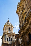 Malaga cathedral. View of spanish cathedral in Malaga Stock Image