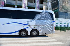 Malaga CF Badge On The team Coach Stock Photography
