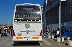 Malaga CF Team Bus Royalty Free Stock Photos